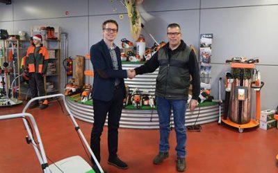 Ook Mangnus Park en Tuinmachines B.V. heeft vertrouwen in Vermeulen Steenbergen
